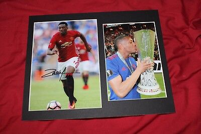 Genuine Hand Signed Anthony Martial Manchester United Photo Mount - PROOF
