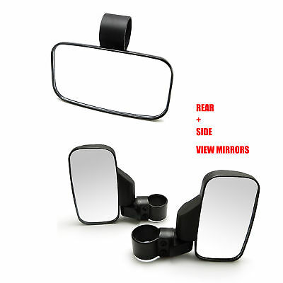 UTV Universal Side/Rear Mirrors -Break Away with Adjustable Arm Quad Gear