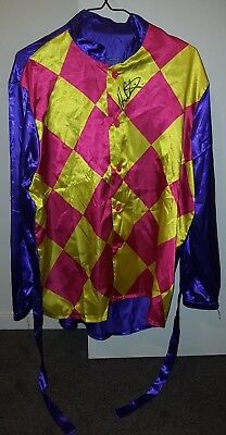 Fancy Dress Jockey Silks Signed By Damien Oliver - Melbourne Cup Winner