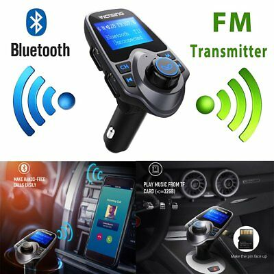 Victsing Bluetooth Wireless Stereo Audio Receiver FM Transmitter Radio Adapter