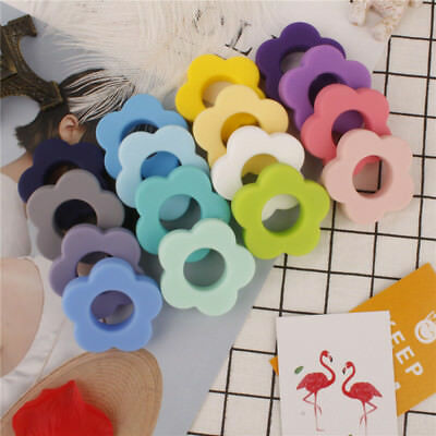 1PC Flower Silicone Teething Bead Chew Necklace Pendent Baby Teether Making