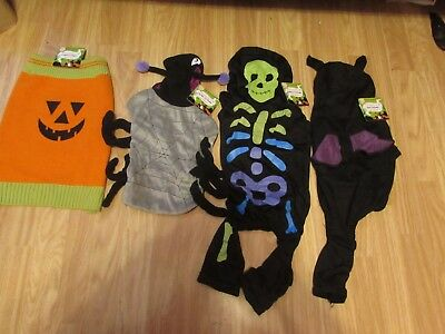 Novelty Dog's Halloween Costumes Incl Bat/skeleton/spider/pumpkin By Armitage