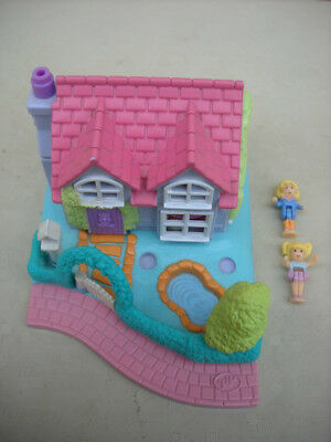 1995 Vintage Polly Pocket Dance Studio Cottage + Two Dolls By Bluebird Toys