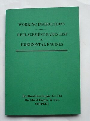 Bradford Gas Engine Working Instructions & Replacement Parts.