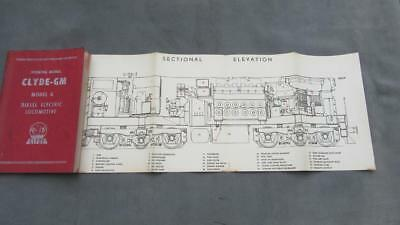 1957 Clyde-GM Diesel Electric Locomotive Model G Operating Manual Clyde N.S.W.