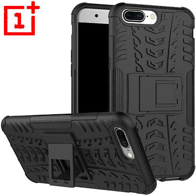 For OnePlus 5 Hybrid Armor Shockproof Rugged Heavy Duty Stand Hard Case Cover