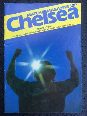 Chelsea Football Programme. Chelsea V Grimsby Town. 1982
