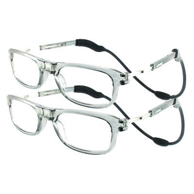 Loopies Magnetic Reading Glasses TWIN-PACK Grey UVA 50% Off Rrp