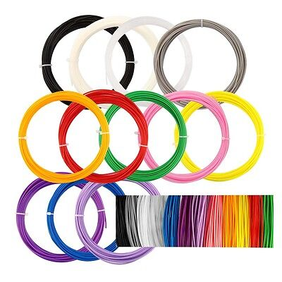 12pcs (120m) 1.75mm ABS Printing Filament Modeling For 3D Printer Pen Drawing