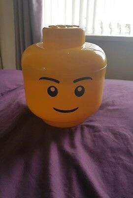Large Lego head storage box/container, boy rare