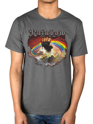 Official Rainbow Monsters Of Rock T-Shirt Down Earth Rising Tour Music Band