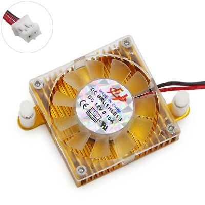 40mm Aluminum 2pin PC GPU VGA Video Card Heatsink Cooler Fan Mounting Hole 55mm