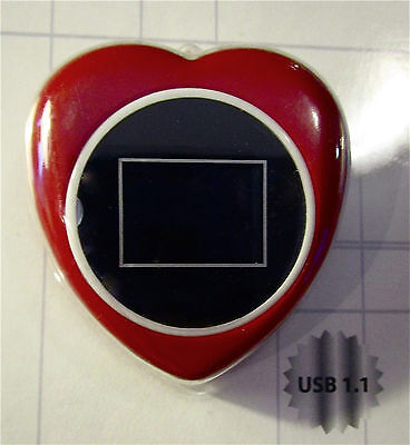 'InVion Ditital Photo Key Chain' - HEART SHAPED! UNOPENED! (Stores 54 Pictures)