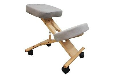 Cream Ergonomic Kneeling chair, Posture, Office