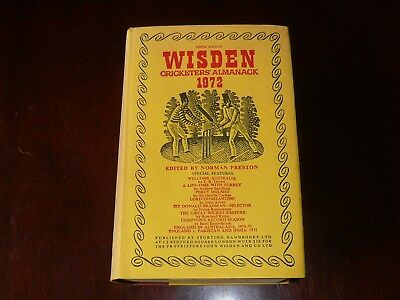 1972 WISDEN hard cover Edition highly collectible condition