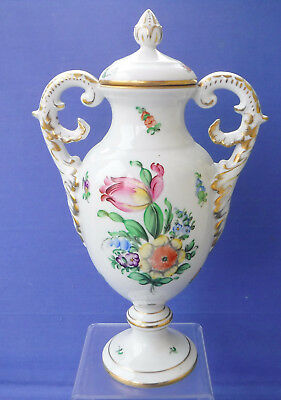Superb Large Herend Covered Temple Vase in Printemps Pattern...Perfect !