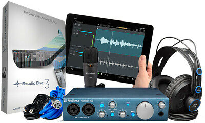 Presonus AudioBox iTwo Studio USB Audio Interface, Headphone, Mic & DAW Software