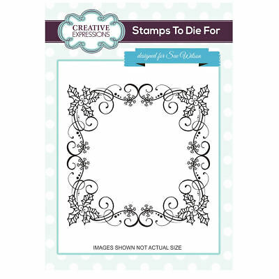 Creative Expressions Stamps To Die For- Holly Berry Frame UMS730
