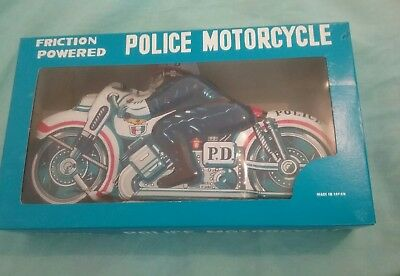 Friction Powered Police Motorcycle Made in Japan