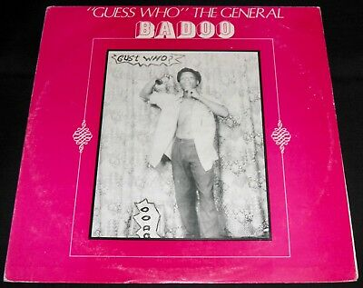 "Badoo - ""guess Who"" The General! 1981 Duracell Lparc002 Ja Orig Reggae Rare Ex!"