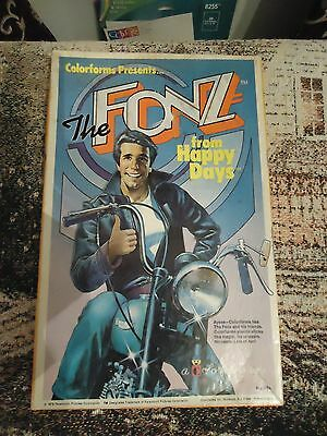 Vintage 1976 The Fonz from Happy Days Colorforms Set - Looks nice for age!