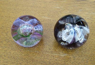 2 x Caithness  Glass Paperweights MOONCRYSTAL