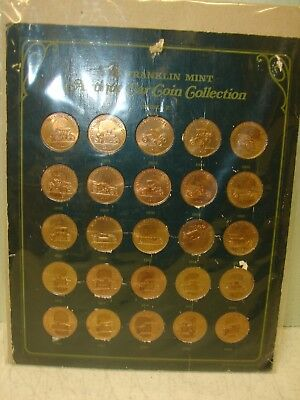 "Franklin Mint ""Sunoco"" Antique Car Coins (Series two) - 25 coins in holder."