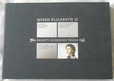 Queen's 80th Birthday Limited Edition - Silver Stamp Commemorative Showcase 2006