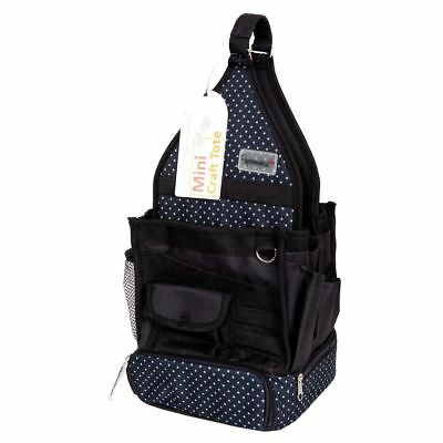 Papermania Liquorice Hanging Dot Mini Craft Tote Black PMA 934203