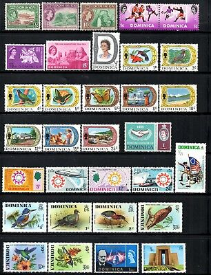 (Ref-11680) Dominica Selection Mint (Hinged) Selection on 2 scans