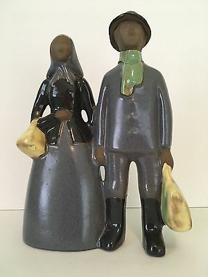 Rare Jie Gantofta Sweden Immigrating to America Couple Figurine Elsi Bourelius