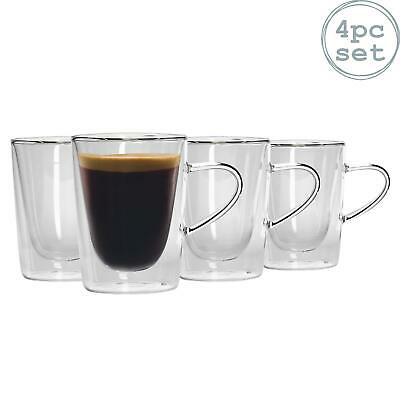 Double Walled Thermo Insulated Espresso Coffee Tea Tumblers. 285ml x4