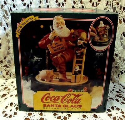 1994 ERTL Mechanical Bank ~ COCA COLA SANTA CLAUS ~ 2nd in the Series ~ NEW !