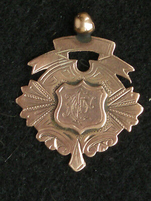 1899 Apsley Charity Cup original gold medal. Won by Berkhamsted Town FC
