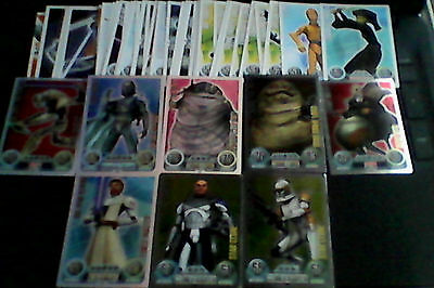 Force Attax Star Wars Trading Cards 8 Shiny Incl. 1 Limited Edition & 42 Common