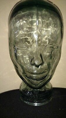 Clear Glass Mannequin Head  - Hat - Wig - Scarf Display