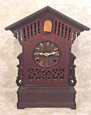 Antique Cuckoo Shelf Clock 8 Day Movement A Frankfield & Co NYC Runs? Strikes?