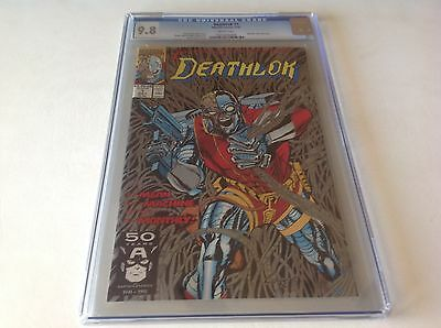 Deathlok 1 Cgc 9.8 White Pages Very Nice Metallic Silver Ink Cover Lot D 1991