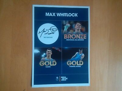 Max Whitlock Signed PR Card * Gold Medallist Gymnast * * UK Delivery Only *