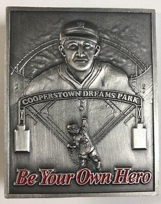 Cooperstown Dreams Park Be Your Own Hero Coach Lou Presutti Baseball Trading Pin