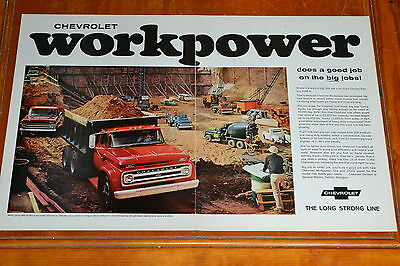 Beautiful 1965 Chevy Dump Truck Large Ad - Workpower / Old School Vintage 60S