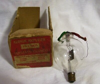 1912 DeForest Double Wing Spherical Audion with Good Filament and Original Box