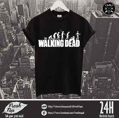 Fear The Walking Dead T Shirt Tee Logo Daryl Dixon Crossbow Rick Glenn Maggie
