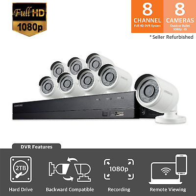 SDH-B74081-SRF (Seller Refurbished) 1080p HD 2TB Security System with 8 Cameras