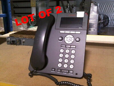 Lot of 2x Avaya 9620C VoIP Office Phone • 700461205 • Tested & Warranty