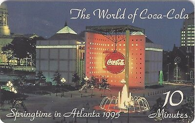 TK USA Telefonkarte/Phonecard 10u World of Coke Building (Issue #1): 'Springtime