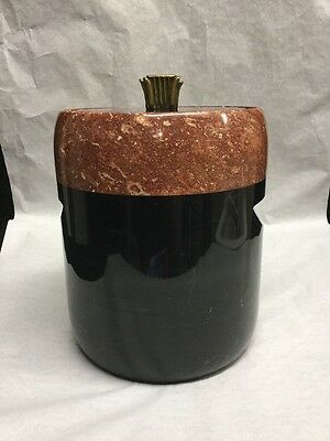 Mid-Century Georges Briard Carved Marble/Stone Ice Bucket w/Liner