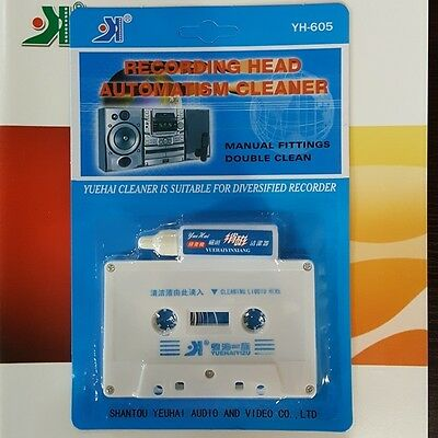 Top Audio Cassette Tape Head Cleaner Audio Cassette Tape Wet/Dry Head cleaning