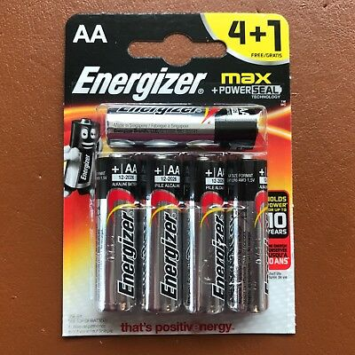 NEW Energizer AA MAX Alkaline Powerseal Batteries 4+1 LR6 MX1500 MN1500 MIGNON