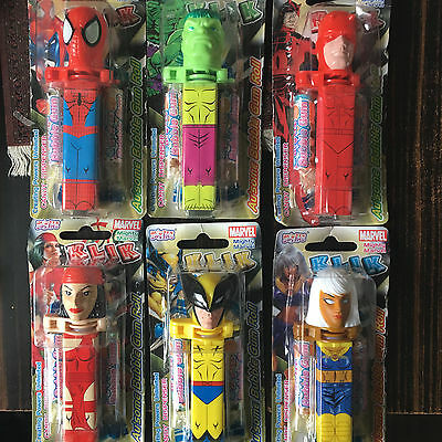 """6 """" Pez """" Mighty Marvel.neufs Sous Emballage."""